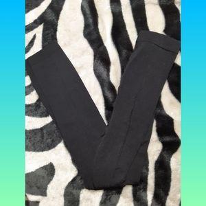 Plain Black Capri Leggings Stretchy